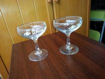 Crystal Bride and Groom Champagne glasses in Travis AFB, California