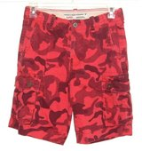 American Eagle Classic Broken-In Red Camouflage Cargo Shorts Mens 28 Measures 29 in Morris, Illinois