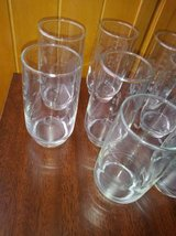 8 Etched Crystal OJ glasses or drinking glasses in Travis AFB, California
