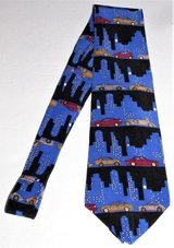 vicky davis rush hour 3d necktie novelty silk tie city night life mens in Tacoma, Washington