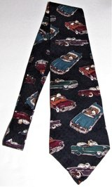 peanuts cool wheels necktie 100% silk novelty blue tie charlie brown snoopy cars in Fort Lewis, Washington