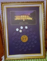 U. S. PRESIDENTIAL DOLLARS FRAME W/4 COINS in Naperville, Illinois