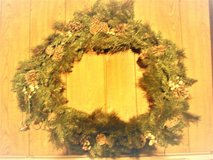 """15 1/2"""" xmas wreath with lights (used 1 season) in Chicago, Illinois"""