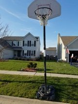 Portable basketball hoop in Chicago, Illinois