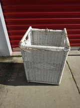 White Wicker Basket Clothes Hamper or storage in Roseville, California