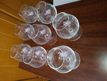 8 Brandy Sniffers Crystal glass Etched in Roseville, California
