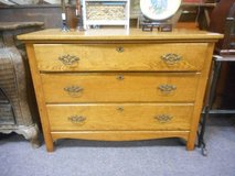 Antique Oak Dresser Chest in Elgin, Illinois