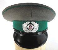Former East German enlisted mens army visor hat early 1980s gray/green #2 in Fort Belvoir, Virginia