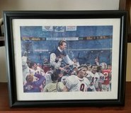 "CHICAGO BEARS 1985 SUPER BOWL 22 1/2"" X 18 1/2"" FRAMED PAINTING in Palatine, Illinois"