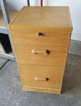 WOOD LIKE 2 DRAWER FILE CABINET WITH KEY in Palatine, Illinois