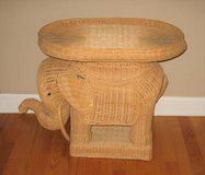 RATTAN / BAMBOO ELEPHANT - Removable Top Tray - UNIQUE in Naperville, Illinois