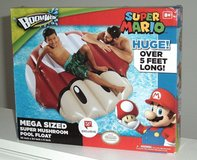 NEW Nintendo Super Mario Huge MEGA Sized Mushroom Inflatable Pool Float Raft in Plainfield, Illinois