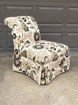 Beautiful upholstered chair floral great condition in Naperville, Illinois