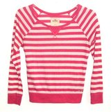 Hollister by Abercrombie HOT Pink White Stripe Knit Top Womens Small Shirt in Joliet, Illinois