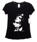 NEW Disney Minnie Mouse Black White High Low Tee Top T-Shirt Womens Small Juniors  3 5 in Joliet, Illinois