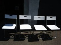 4 white IKEA Folding Chairs in Sacramento, California
