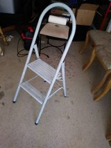 Vintage baby blue step ladder I will be in Fairfield on 6/16 if you want me to bring this item in Travis AFB, California