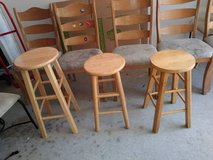 3 basic bar stools of different size in Sacramento, California
