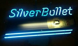 Coors Silver Bullet Neon Sign in Wheaton, Illinois