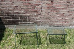 Two Patio Side Tables Iron in Houston, Texas