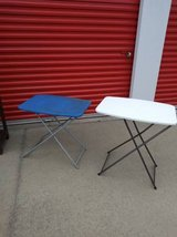2 folding camping task tables In Fairfield on Saturday 6/16 if you want me to bring this in Roseville, California