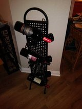 12 Bottle Wine Rack Black Metal in Beale AFB, California
