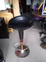 Vintage Style Black and Chrome Bar Stool I will be in Roseville, California