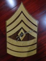 WOOD ARMY MARINE SERGEANT WALL CLOCK QUARTZ MADE in JAPAN in Vacaville, California