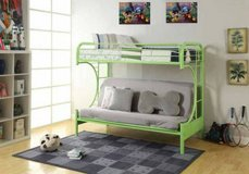 Eclipse Twin Over Futon Bunk Bed (Lime) - NEW! in Bolingbrook, Illinois