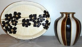 Home Decor - Hand Painted Serving Platter -OR Vase ~$10 EACH in Westmont, Illinois