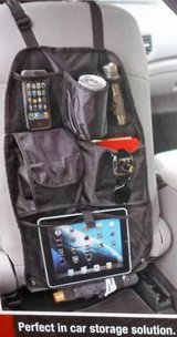 New!  Auto / Car Seat Back Organizer ~ Black Nylon ~ 7 pocket in Orland Park, Illinois