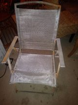 Wood metal Material folding lawn chair in Roseville, California