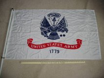 U.S. Army flag with 59-inch flag pole in Fort Carson, Colorado