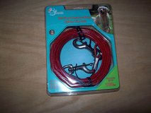 pet trends 30 foot heavy duty cable tie out up to 100 lbs -red in Lockport, Illinois