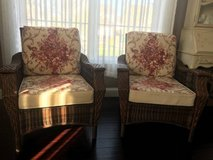 ~WICKER CHAIRS AND CUSHIONS~LIKE NEW~ in Oswego, Illinois