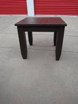 Large dark wood style Square end table in Travis AFB, California