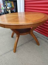 Pedestal Dining Room Table Solid Wood Traditional Furniture Round in Sacramento, California