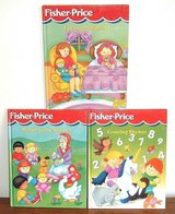 3 Vintage 1998-99 Fisher Price HC Book Lot Mother Goose Counting Rhymes Lullabies in Chicago, Illinois