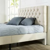 Upholstered Modern Classic Tufted Platform Bed, King - New! in Aurora, Illinois