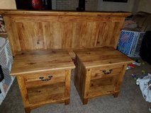 *price drop* Two end tables with matching queen headboard plus extras in Yucca Valley, California
