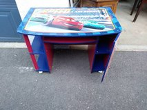 Kids or children's race car desk with storage in Roseville, California