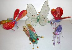 5 Wire / Mesh Insect Bug Whimsical Home Decor ~Butterfly Firefly + in Naperville, Illinois