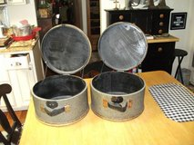 REDUCED...2 ROUND DECORATIVE BOXES FROM MACYS in Naperville, Illinois