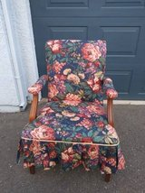 Floral Ruffled Vintage Old Fashioned Padded back and Seat Arm Chair in Roseville, California