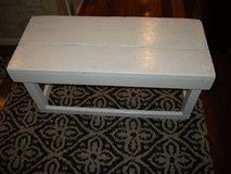 WHITE ALL HARD WOOD BENCH in Naperville, Illinois