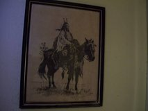 """""""Indian Crow Scout"""" & """"Crow Warrior"""", 2 lithos by Robert Louis BARRETT in Yucca Valley, California"""