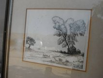 Etching by Robert L. Farris, Yucca Valley artist in Yucca Valley, California