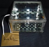 New! Nicole Miller Mirror/ Glass Heart Jewelry / Trinket Box in Orland Park, Illinois