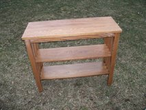 MISSION STYLE ALL WOOD SHELF OR FOYER TABLE in Orland Park, Illinois