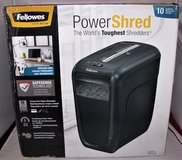 fellowes power shred 60cs 10 sheet shredder cross cut crc46060 paper cards in Tacoma, Washington